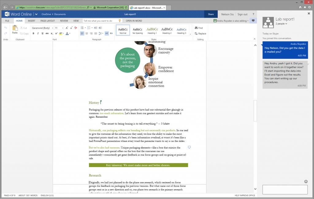 Skype Office Online 1