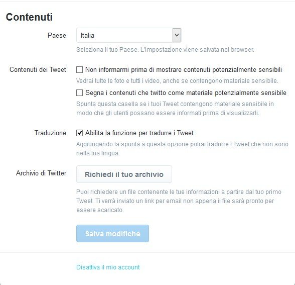 Come fare il backup dei tweet su Twitter-1