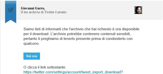 Come fare il backup dei tweet su Twitter-2