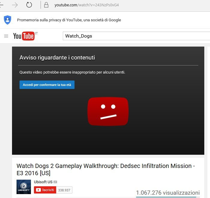 video di Youtube bloccati 1