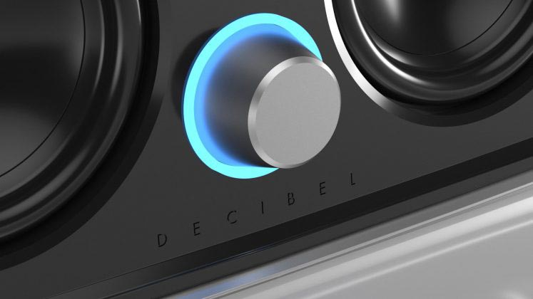 decibel speaker bluetooth-ring-Light