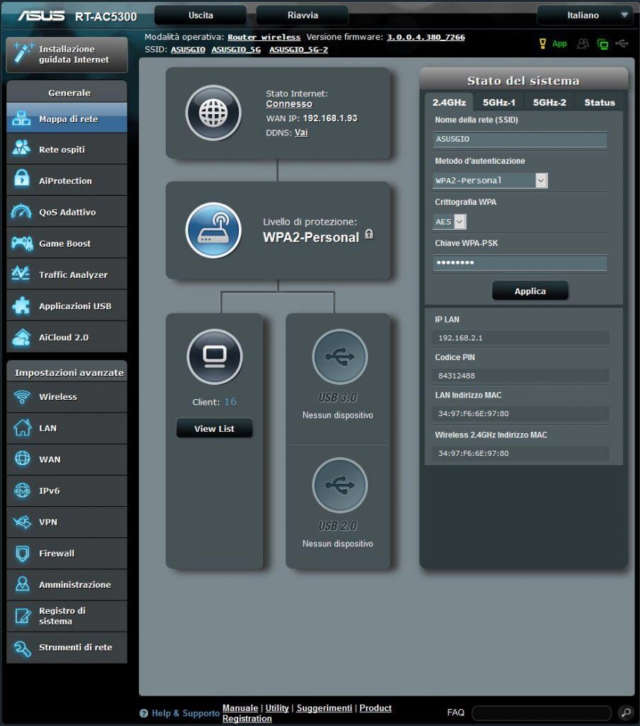 Asus RT-AC5300-interfaccia