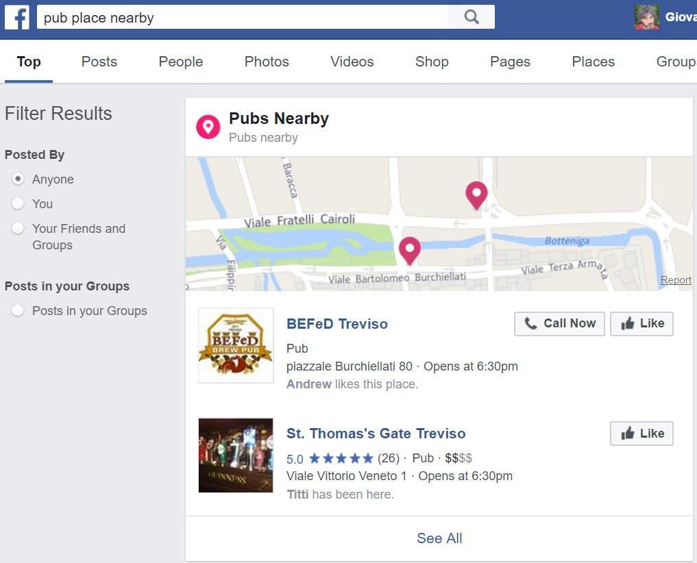 Facebook motore di ricerca -2