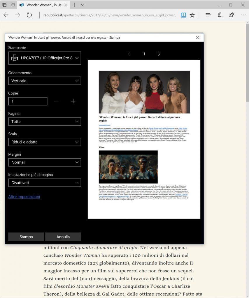 Stampare le pagine web senza pubblicità -1