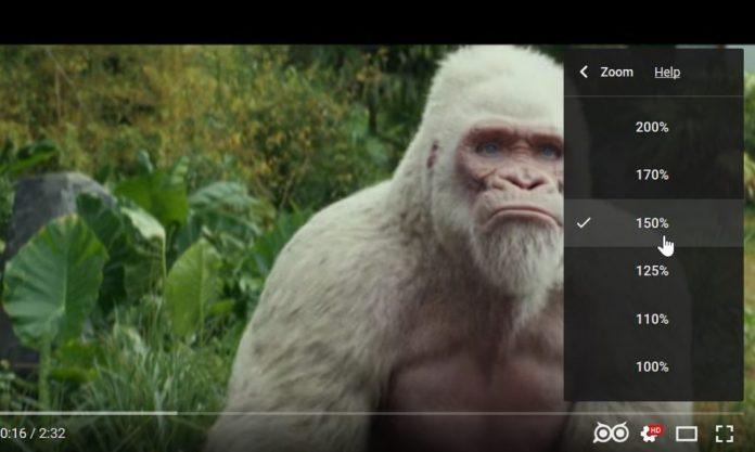 zoomare un video di YouTube