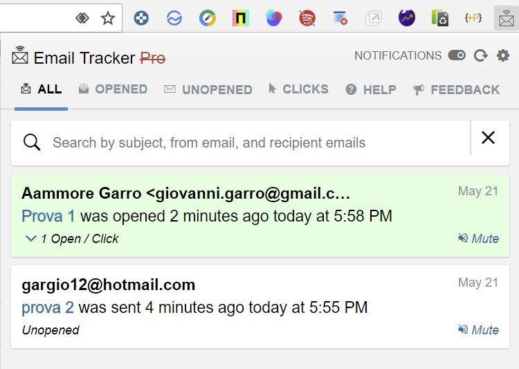 conferma di lettura su Gmail