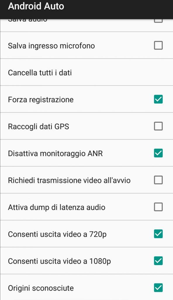 Android Auto - installare aa mirror 9