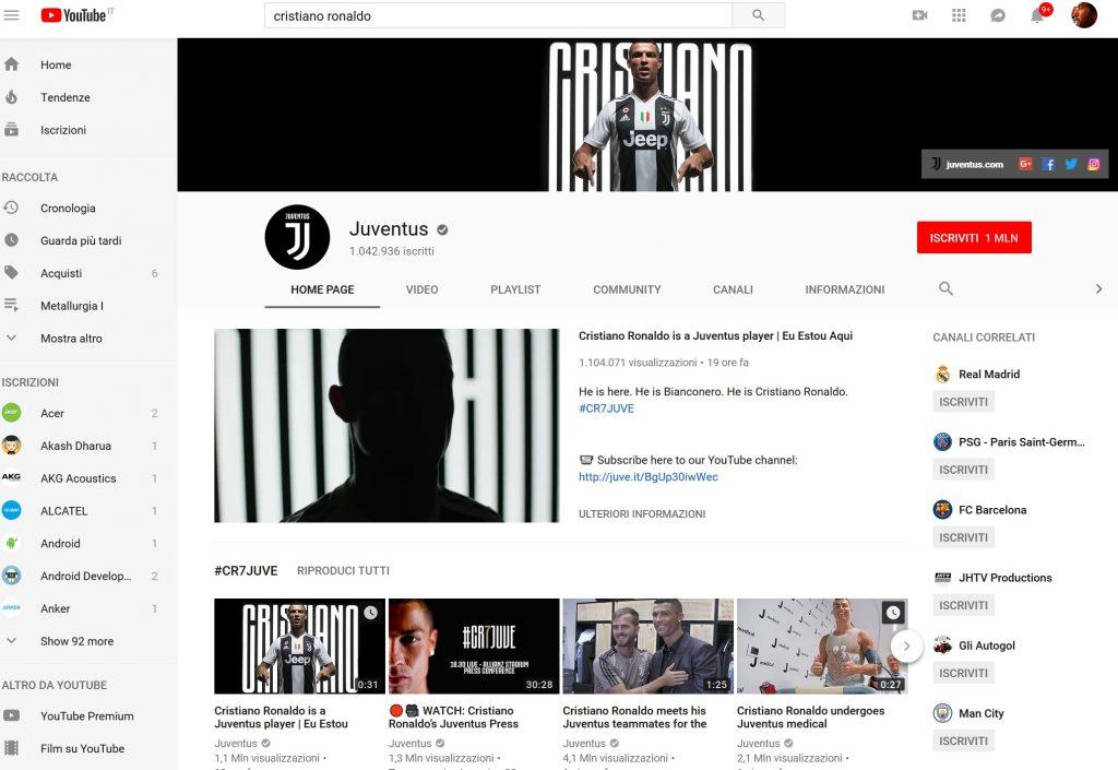 cristiano ronaldo youtube