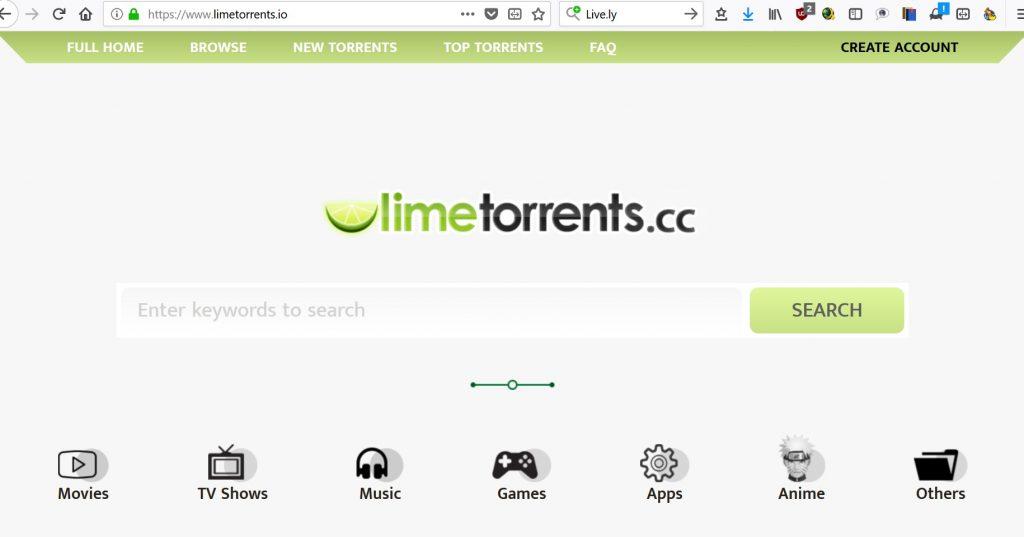 nuovo sito limetorrents