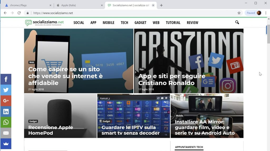 nuova interfaccia chrome
