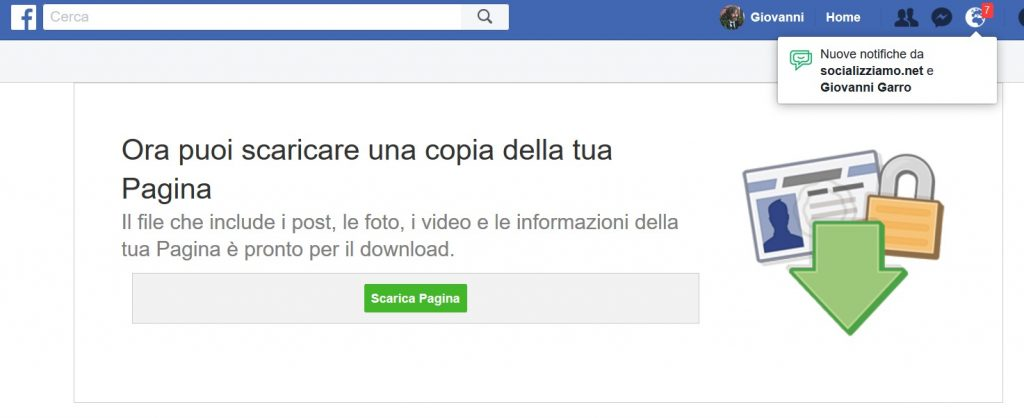 salvare post pagina facebook