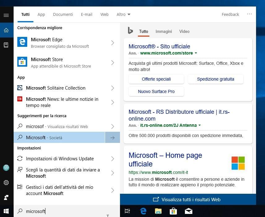nuove funzioni Windows 10 October 2018 Update