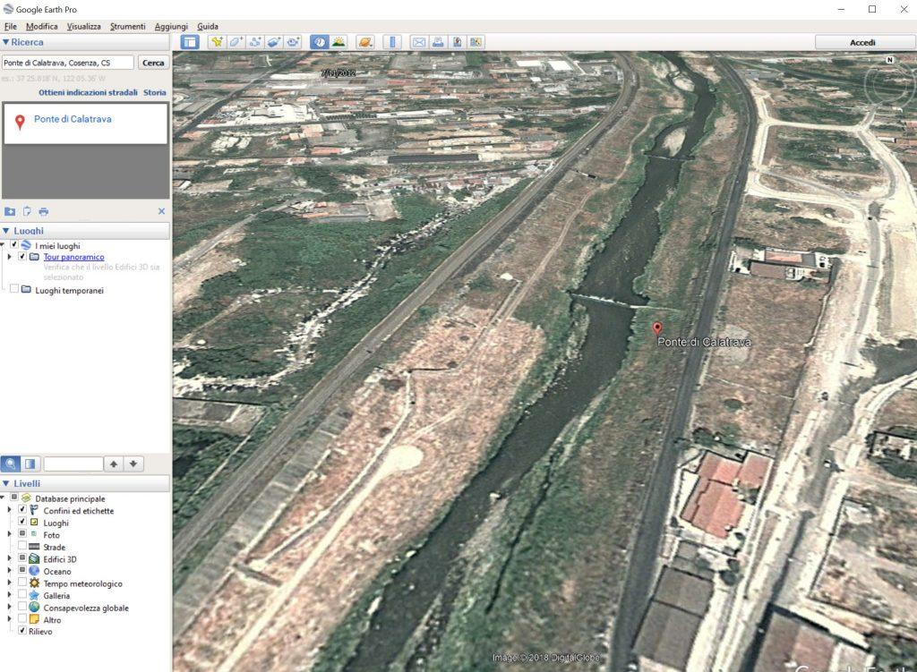 viaggiare nel tempo con Google Earth