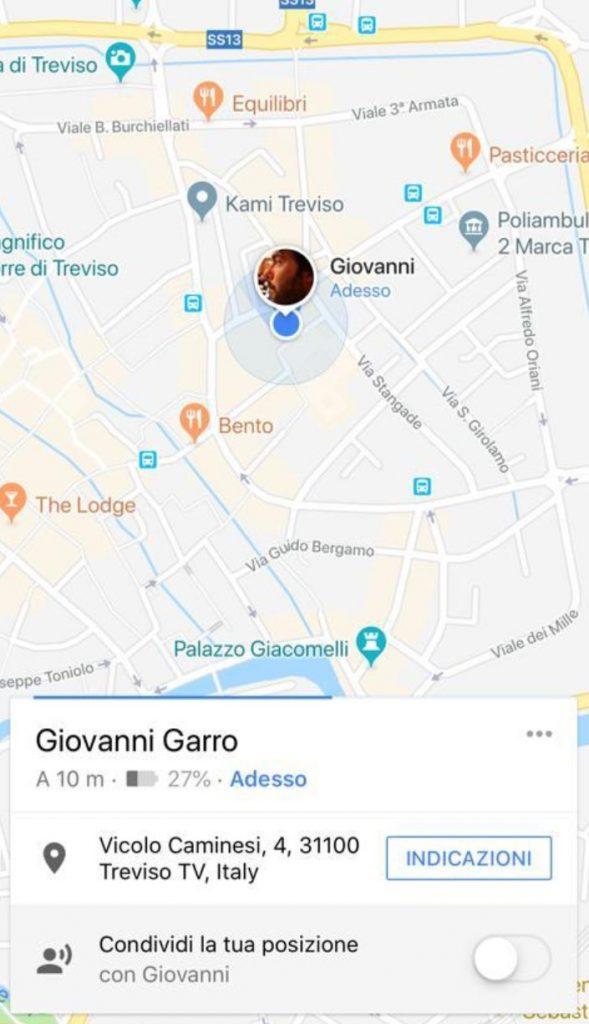 Spiare qualcuno con Google Maps