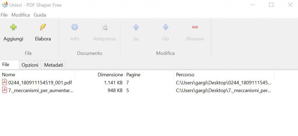 Unire più pdf in un unico file