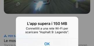 scaricare app più grandi di 150 MB