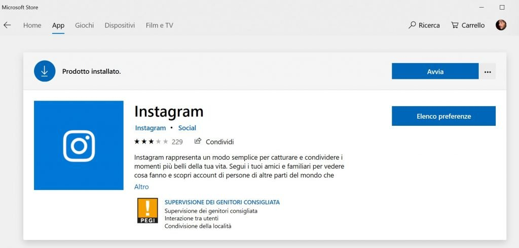 postare su Instagram dal pc