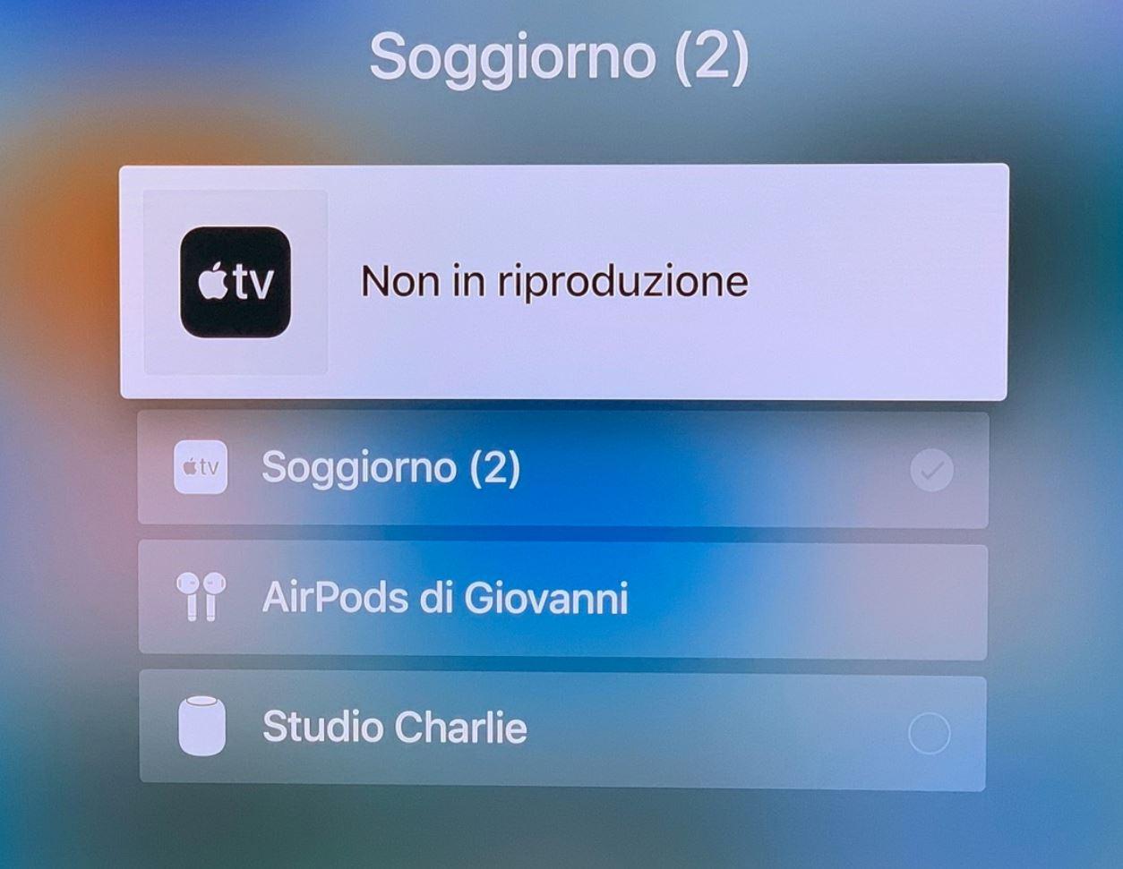 Usare gli AirPods con la Apple TV