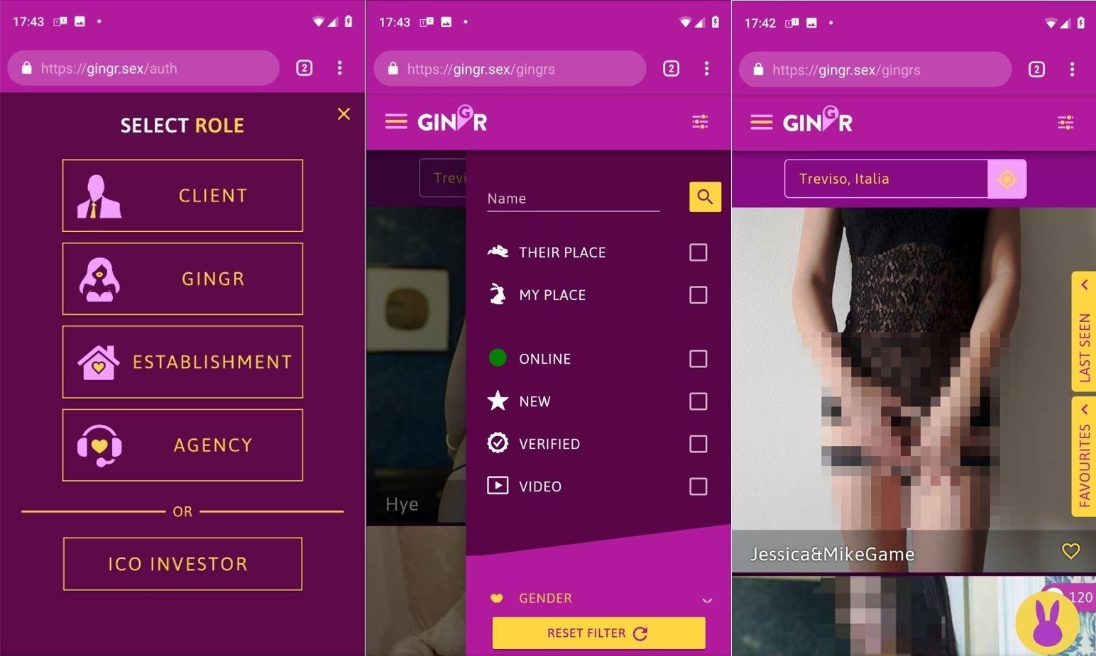 Gingr, arriva l'app per prenotare prostitute con la blockchain