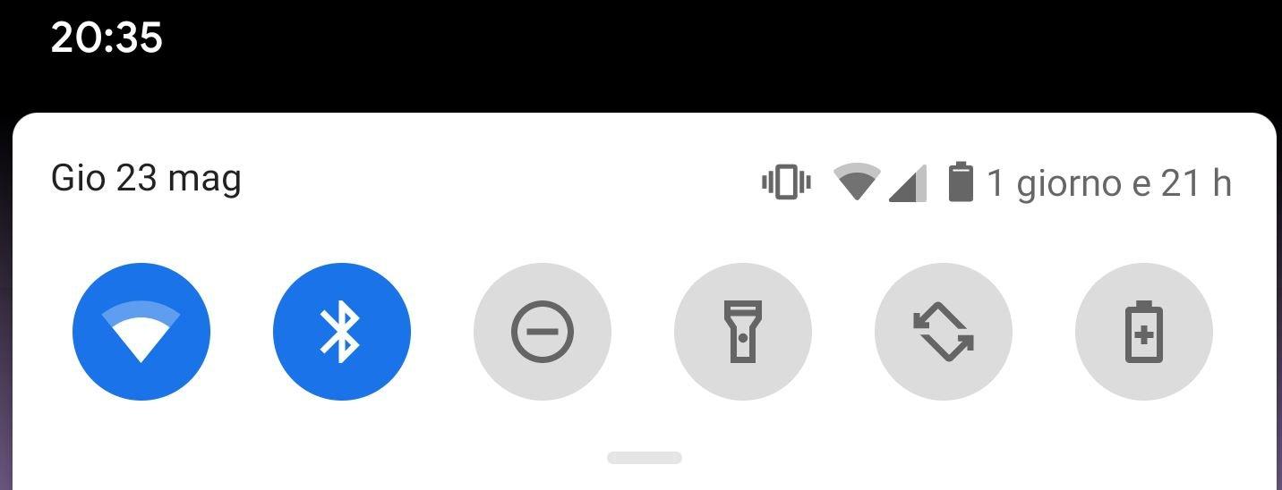 Stima durata batteria Android Q