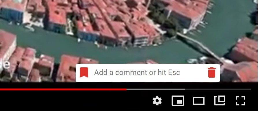 aggiungere un segnalibro a un video di youtube