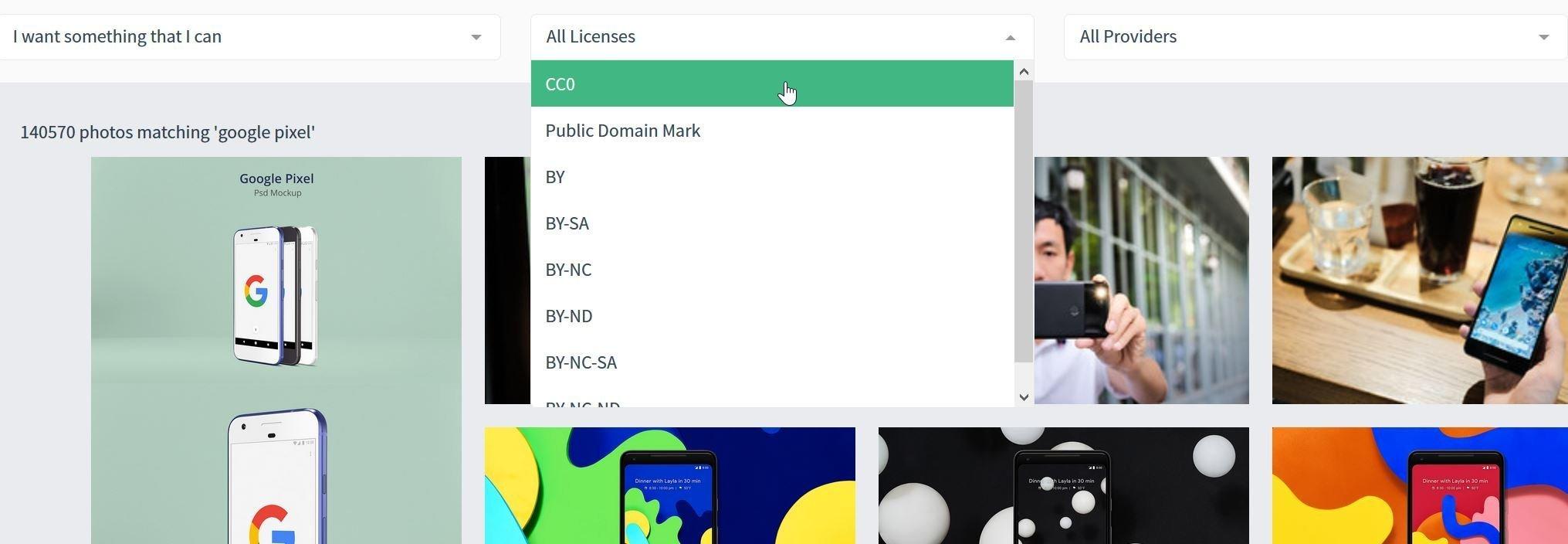 CC Search, motore di ricerca per immagini Creative Commons