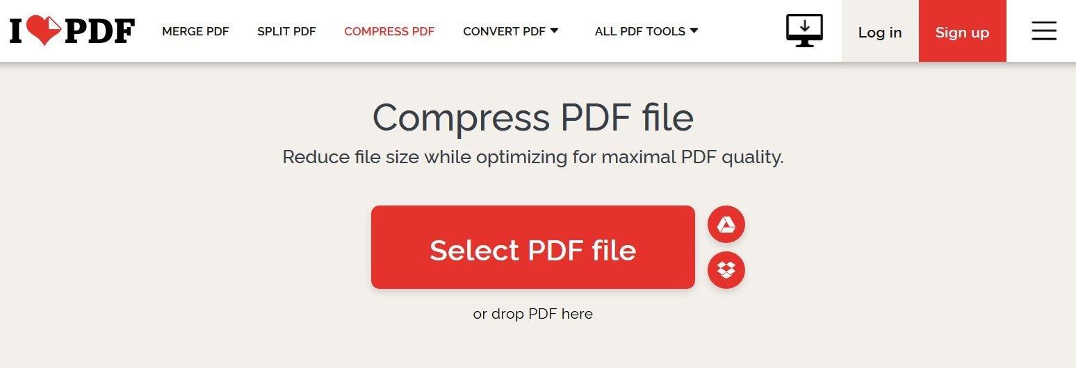 Comprimere un PDF su Internet