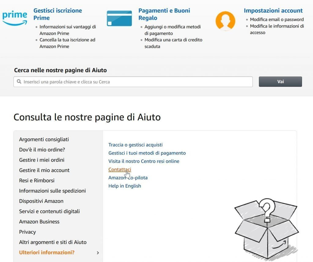 Come telefonare Amazon