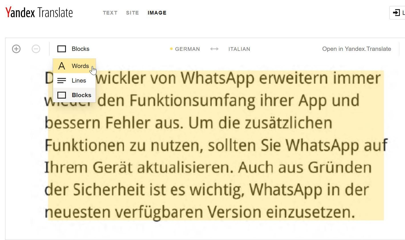 Tradurre un'immagine su pc senza installare alcun programma