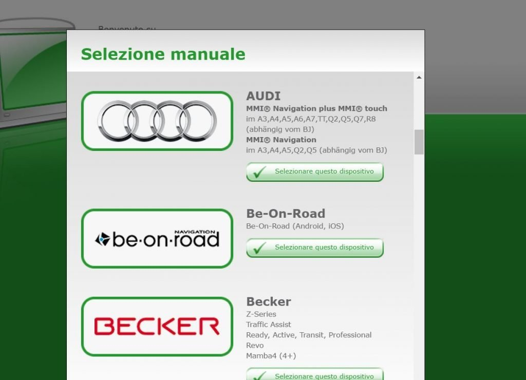 Convertire gli autovelox nel formato compatibile col navigatore MMI