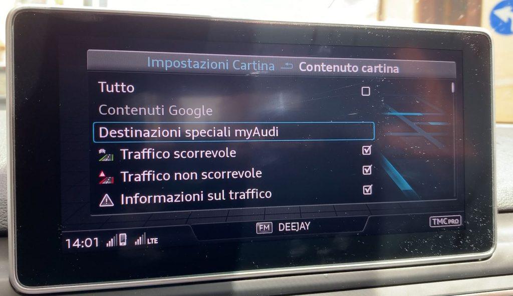 Caricare gli autovelox sul navigatore MMI dell'Audi