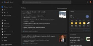 modalità scura in Google News