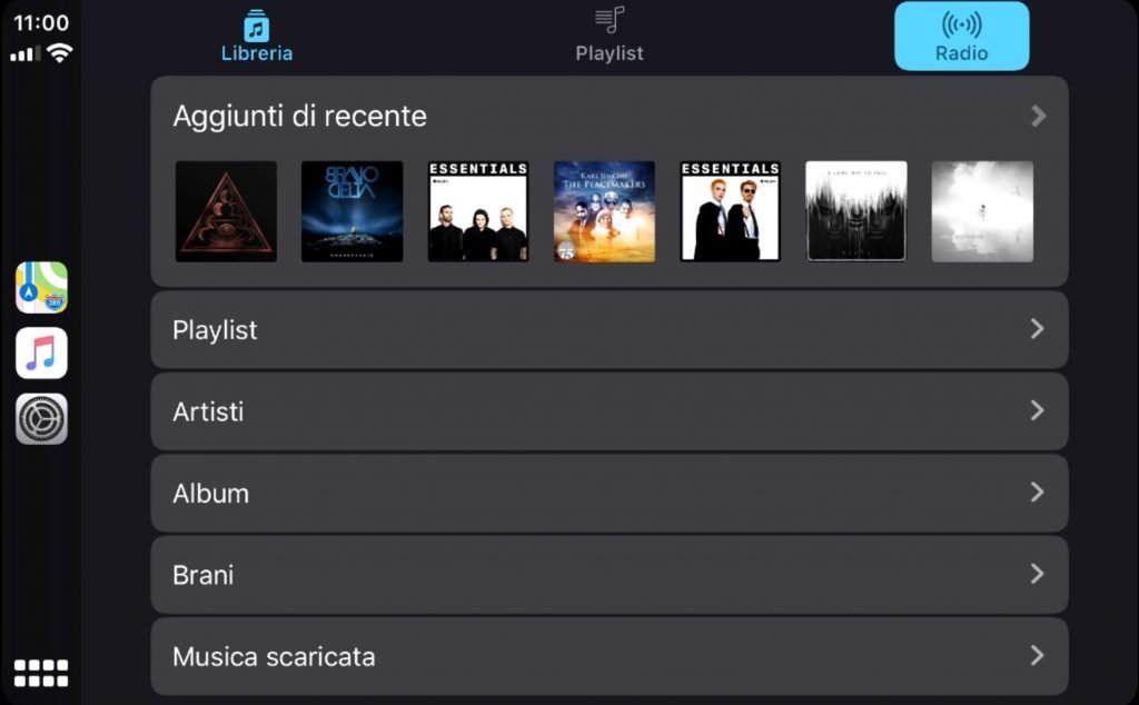 nuova app musica carplay