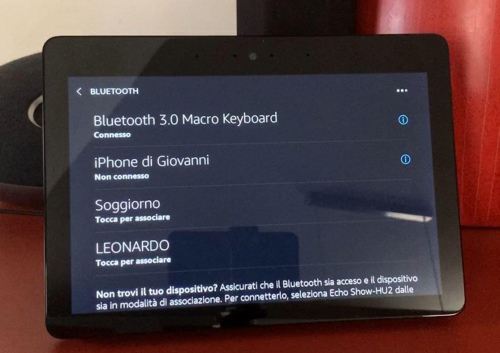 Collegare una tastiera bluetooth all'Eco Show