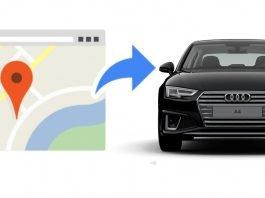 Come inviare una destinazione da Google Maps al navigatore MMI dell'auto