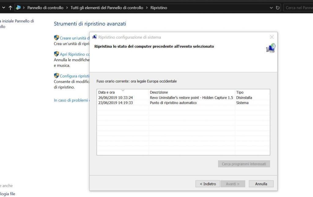 Correggere i problemi di Microsoft Office con il ripristino del sistema