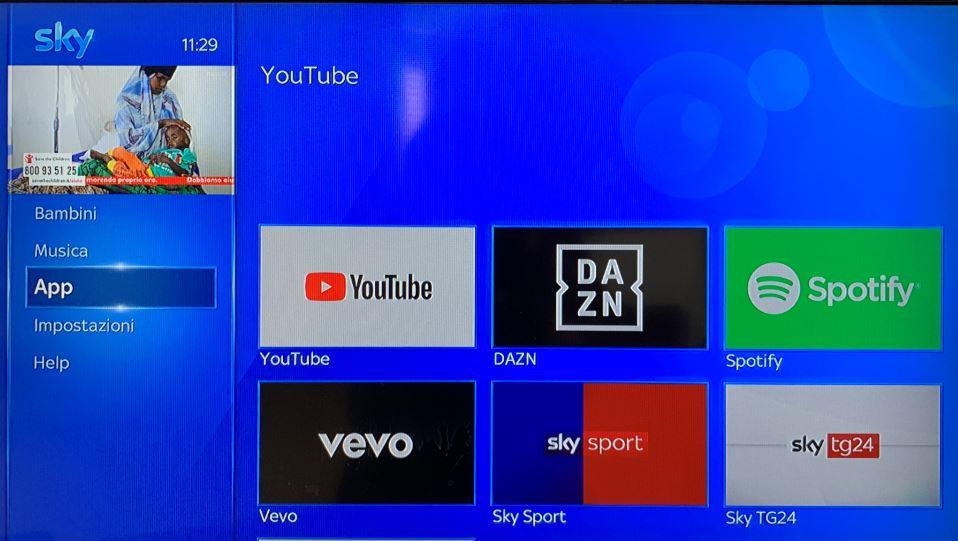 Usare Sky Q per trasformare la TV in una Smart TV