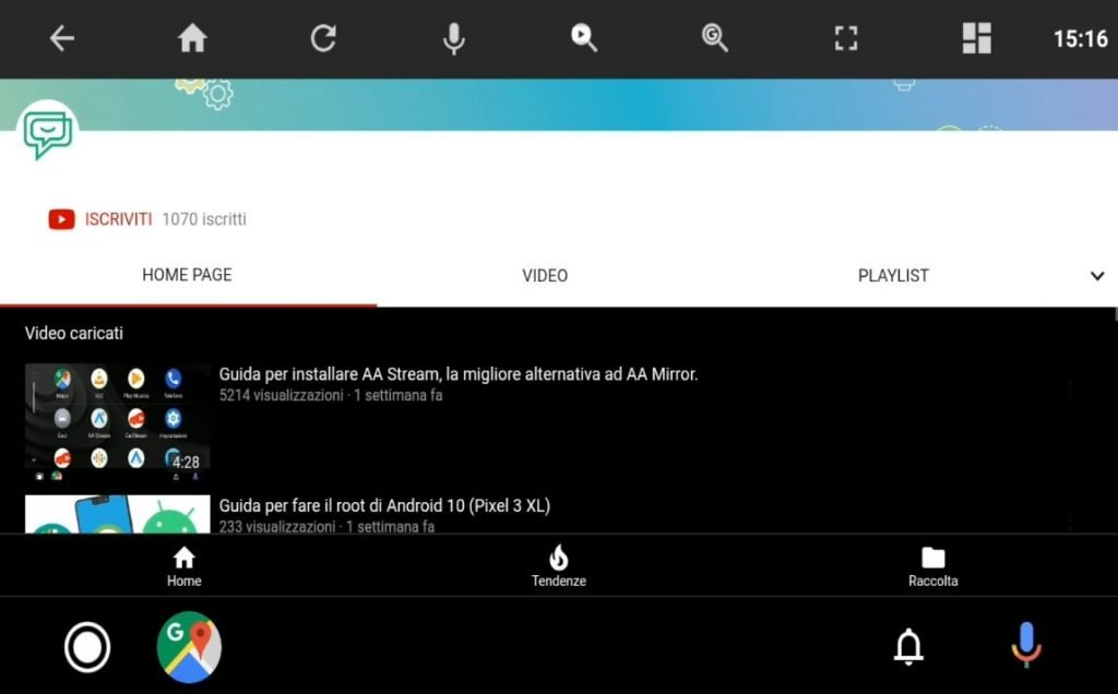 Guardare YouTube su Android Auto
