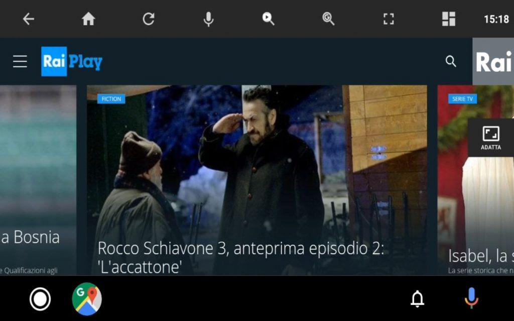 Guardare RaiPlay e altri servizi di streaming su Android Auto