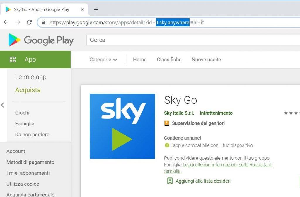 Come abilitare la visione di Sky Go su Android Auto