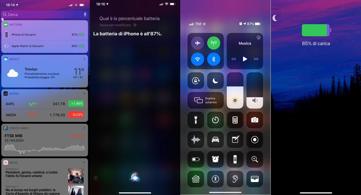 Come visualizzare la percentuale batteria sull'iPhone 11