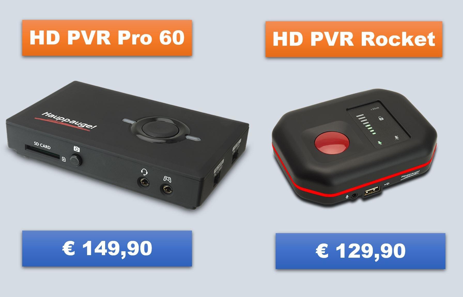 HD PVR Pro 60 vs HD PVR Rocket