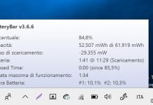 Come visualizzare la percentuale batteria in Windows 10
