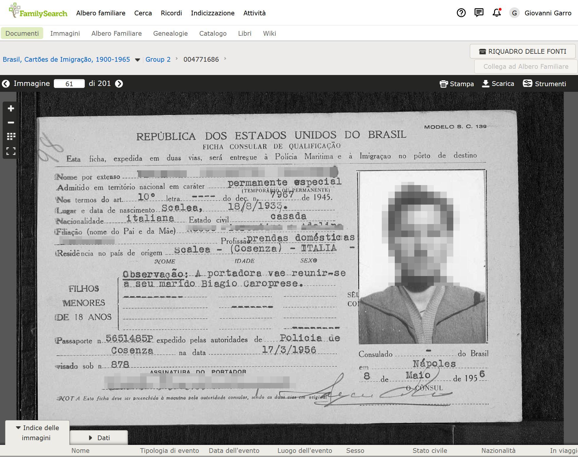 FamilySearch, cercare un vecchio parente o antenato