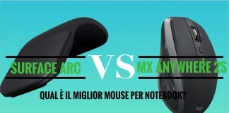 Microsoft Surface Arc Mouse vs Logitech MX Anywhere 2S