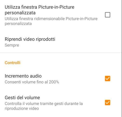 Migliorare l'audio su Android con vlc