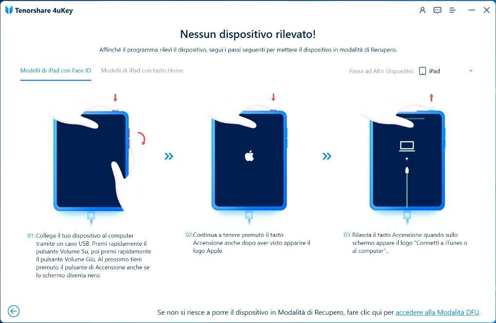 rimuovere il codice di blocco da iPhone e iPad