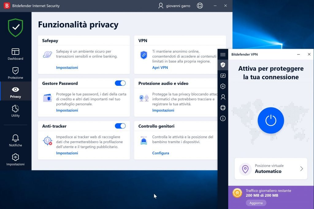 Bitdefender Internet Security_vpn