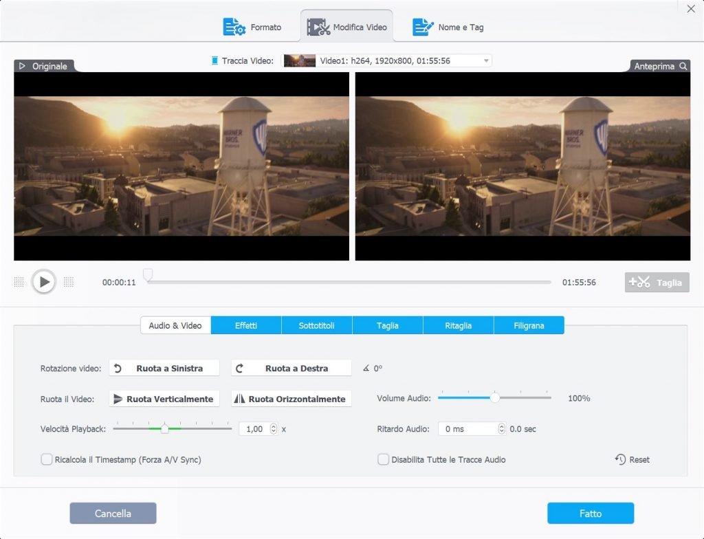 editing e conversione video