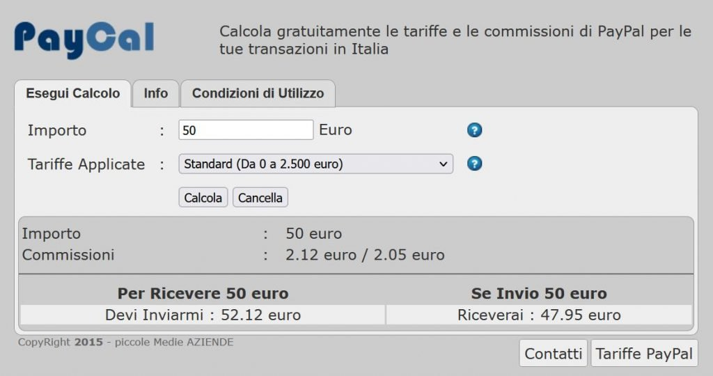 calcolare le commissioni di PayPal online